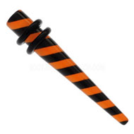 Orange Stripe UV Ear Expander