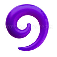 Purple UV Spiral Ear Expander
