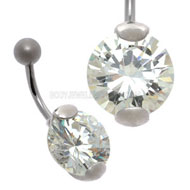 CZ Jewelled Belly Bar