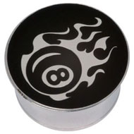 Eightball Steel Flesh Plug