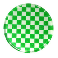 Green UV Chess Flesh Plug