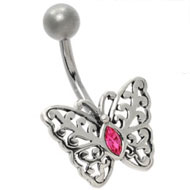 Jewelled Butterfly Navel Piercing Jewellery