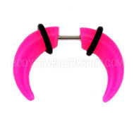 Neon Pink Fake Ear Stretching Jewellery