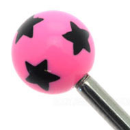 Pink Stars Threaded Ball