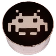Space Invader Steel Flesh Plug