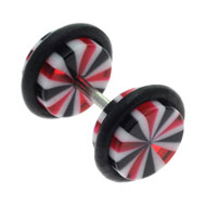 Wheel UV Fake Ear Stretching Jewellery
