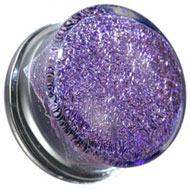 Purple Glitter Glass Flesh Plug