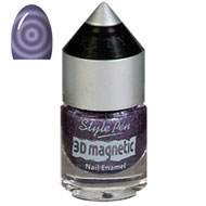 Purple Swirl Magnetic Nail Polish