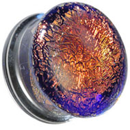 Red Glitter Glass Flesh Plug