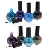 Ultra Cover Glitter Nail Polish Cool Blues
