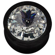 Big Swarovski Crystal Flesh Plug