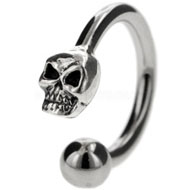 Steel Skull Skull Navel Piercing Jewellery