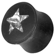 Swarovski Crystal Star Flesh Plug