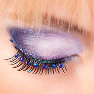 Blue Diamante False Eyelashes