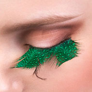 Green Feather False Eyelashes