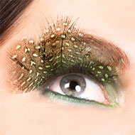 Light Green Feather False Eyelashes