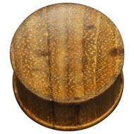 Teak Wood 00 Gauge Flesh Plug