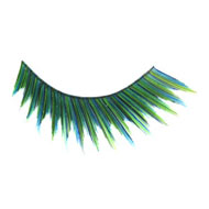 Zigzag Green False Eyelashes