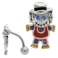 Zombie Scarecrow Reverse Belly Bar