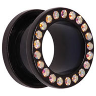 AB Jewelled Acrylic Flesh Tunnel