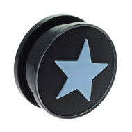 Blue Star Large Gauge Flesh Plug
