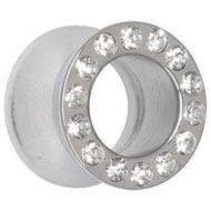 Chunky Jewelled Steel Flesh Tunnel