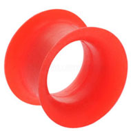 Red Silicone Hollow Large Gauge Plug
