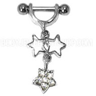 Star Charms Helix Piercing Bar