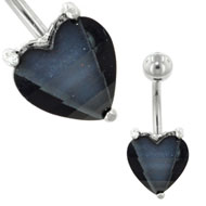 Black Heart Belly Bar