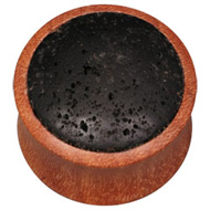 Wooden Flesh Plug with Lava