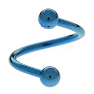 Blue Titanium Body Spiral