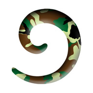 Camo Spiral Acrylic Ear Stretcher
