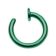 Green Steel Open Nose Ring