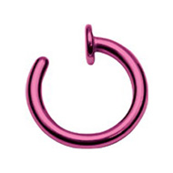 Purple Steel Open Nose Ring