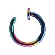 Rainbow Steel Open Nose Ring