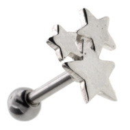 Silver Stars Tragus Piercing Jewellery