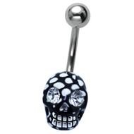 Disco Crystal Skull Belly Bar