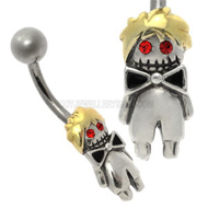 Zombie Boy Belly Button Bar