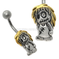 Zombie Doll Belly Button Bar