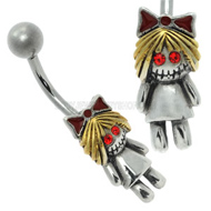 Zombie Girl Belly Button Bar