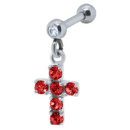 Red Cross Ear Piercing Bar