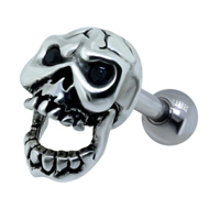 Skull Ear Piercing Bar
