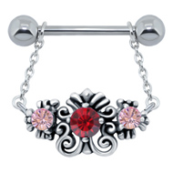 Jewelled Charm Nipple Bar