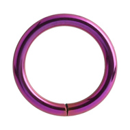 Purple Titanium Continuous Piercing Ring