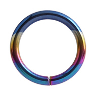Rainbow Titanium Continuous Piercing Ring