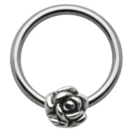 Rose Ball Closure Ring