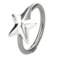 Silver Star Ball Closure Ring