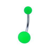 Green Velvet Touch Belly Bar