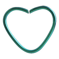 Green Heart Continuous Piercing Ring