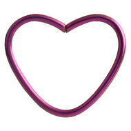 Purple Heart Continuous Piercing Ring